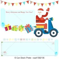 Card With Modern Delivers Gifts On Christmas Card From Santa