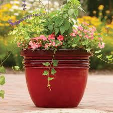 better homes and gardens ay decorative outdoor planter red sedona 12 com