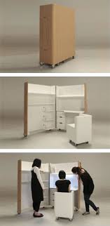 small furniture for small homes. idea about home office japanese designers atelier opa created this foldaway set of furniture which includes a mobile small kitchen and for homes