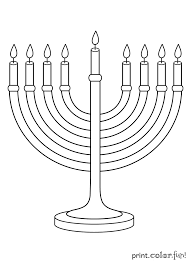 Small Picture Menorah Coloring Page kiopadme