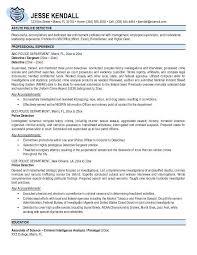 Law Enforcement Resume Objective Inspiration Resume Sample Police Resume Samples Military Police Job Description