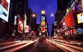 New York city street by night wallpaper ...