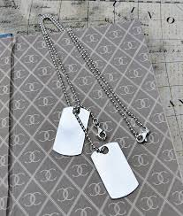 personalised men s sterling silver dog tag necklace 24