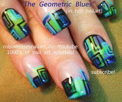 Robin Moses Nail Art: purple nails, blue and green nails ...