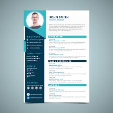 Elegant Blue Resume Design Download Free Vector Art Stock