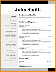 10 Resume Template Libreoffice Professional Resume List