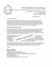 Sample Letter Of Community Service Completion Free Letter