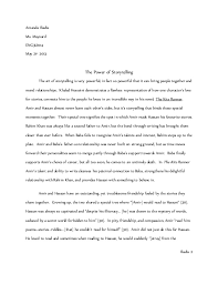 kite runner essay grade  amanda iliadis ms nard eng3u104 21st 2013 the power of storytelling the art of