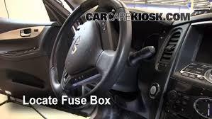 interior fuse box location 2008 2012 infiniti ex35 2008 locate interior fuse box and remove cover