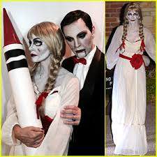 courteney dolls up as annabelle for with fiance johnny mcdaid