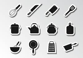 kitchen utensils silhouette vector free. Free Kitchen Utensils Icons Vector Silhouette