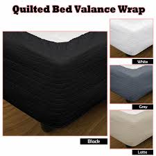 4 Color Choice - Quilted Bed Valance Wrap - SINGLE King Single ... & 4 Color Choice - Quilted Bed Valance Wrap - SINGLE King Single DOUBLE QUEEN  KING Adamdwight.com