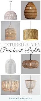 i m on the hunt for a light airy textured pendant light for our kitchen so i thought i would share some of my finds these hanging lights would add