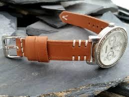 las custom handmade leather watch straps
