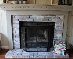 Gray Brick Fireplace New Year New Room Challenge Re Whitewashing The Brick Fireplace