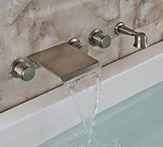 rozin waterfall spout wall mounted tub faucet 3 knobs mixer tap with bathtub faucets decor 5
