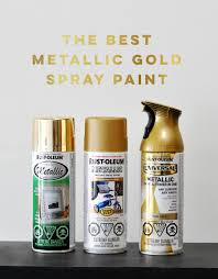 metallic gold spray paint comparison