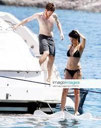 Top model Adriana Lima and his new boyfriend Turkish writer Metin Hara  swims at Cennet (Paradise) Ba