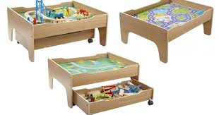 reversible train table drawer 100 piece wooden train set now 39 99 studio