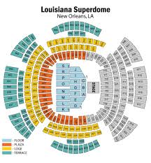 Seating Chart Superdome New Orleans Buy Tickets For 2020 Ultimate Essence Fest Experience 26th