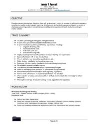 Plumber Resume Epic Plumber Resume Sample In Template Profession Sevte 19