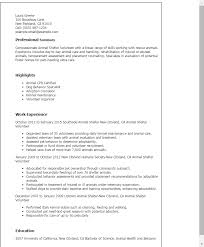 Resume Templates: Animal Shelter Volunteer