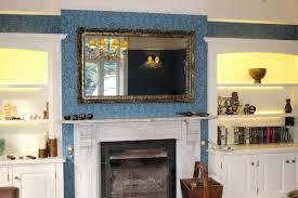 mirror tv. antique black and gold surrey 55 inch tv mirror frame tv e