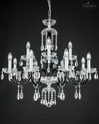 classic black crystal chandelier combined with crystal ts and chrome metal finish