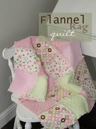 Baby Girls Flannel Rag Quilt - Kreations by Julz & Flannel Rag Quilt by Kreations by Julz Adamdwight.com