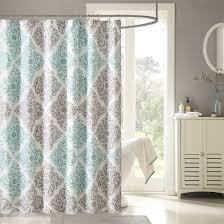 interior transpa fabric shower curtains brown steel bar pole curved steel bar pole added oval