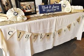 charming tan burlap table runner with white lace for table decoration ideas