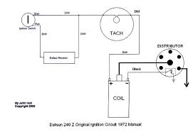 tach bounces while shifting electrical classic zcar club how to install a tachometer on a carbureted car at Early Electronic Ignition System Diagram For Wiring A Tachometer