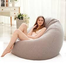 BEAN BAG Sofa Cover Lounger Kursi Sofa Kursi Perabot Ruang Keluarga Tanpa  Pengisi Beanbag Tempat Tidur Sofa Pouf Puff Sofa Malas tatami Bean Bag Sofa   - AliExpress