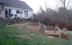 how to build raised garden beds on a slope garden designs