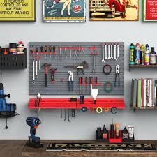 durhand 54 piece pegboard and shelf