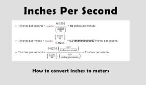 Si Meter Chart Inch Per Second Conversion Chart Inches To Meters Full