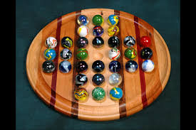 Wooden Game With Marbles Colossal Marble Solitaire Wooden Game Board100 Marbleboardgames 17