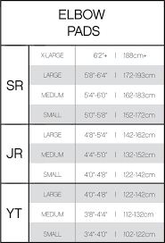 Ccm Referee Pants Size Chart Ccm Tacks As1 Hockey Elbow Pads Youth