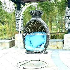 egg swing chair outdoor suppliers hanging with stand wicker for outdoor resin wicker hanging egg chair