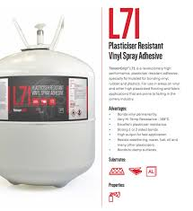 the dutch manufacturer of adhesives belu bonding solutions recommends their vinyl spray adhesive tensorgrip l71 for gluing down large surfaces of