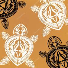 полинезийская черепаха татуировка полинезийском стиле черепаха