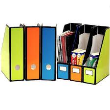 Cardboard Magazine Holders Magazine File Holder Office Organizer Colored Desktop Vertical 79