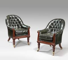 william iv gany antique library chairs