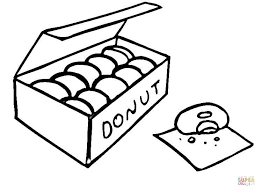 Small Picture Donuts coloring page Free Printable Coloring Pages