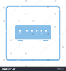 Ethernet Switch Design Ethernet Switch Icon Blue Frame Design Stock Vector Royalty