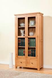 shrewsbury solid oak display cabinet with glass doors