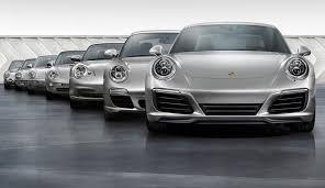 Porsche Model Chart From Zero To 1 000 000 Seven Generations Of The Porsche 911