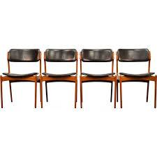 danish teak dining chairs by erik buch 1960s
