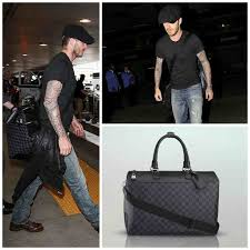 louis vuitton luggage men. hunky brit david beckham was spotted arriving at lax airport yesterday with only part of his extensive louis vuitton luggage set, opting for the neo men