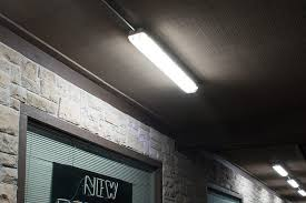 60w vapor tight light fixture led light 4 long shown installed in front of s